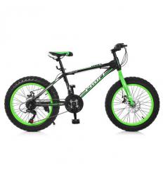 Велосипед 20 Д. EB 20 POWER 1.0 S 20.2 (1шт/ящ) PROFI, Черно-зеленый