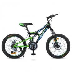 Велосипед 20 д. G20DAMPER S20.1 (1шт/ящ) PROF1, Черно-салатовый-голубой