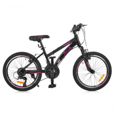 Велосипед 20 д. G20VEGA A20.2 (1шт/ящ) PROF1, Черно-розовый