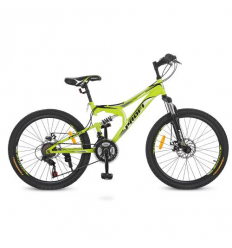 Велосипед 24 д. G24DAMPER S24.4 (1шт/ящ) PROFI, Салатовый