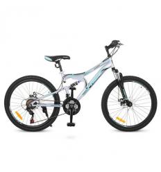 Велосипед 24 д. G24DAMPER S24.5 (1шт/ящ) PROFI, Серо-черный
