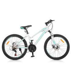 Велосипед 24 д. G24ELEGANCE A24.3 (1шт/ящ) PROFI, Бело-голубой