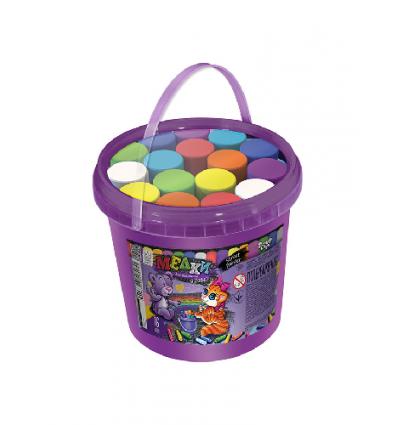 "Мел для рисования на асфальте MEL-03-01 ""Danko-toys"", банка, 16 цветов"