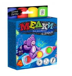 """Мел для рисования на асфальте MEL-01-02 """"Danko-toys"""", 4 цвета, большие"""