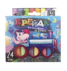 """Мел для рисования на асфальте MEL-02-05U """"Danko-toys"""", 24 цвета, тонкие, укр"""