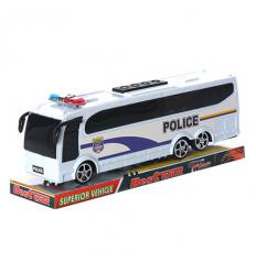 Автобус 818-5 Полиция, инерционный, в слюде