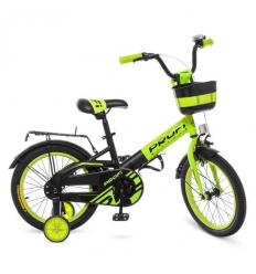 Велосипед детский PROF1 18д. W 18115-6 (1шт/ящ) PROFI, Original, зелено-черный