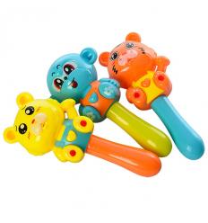 Погремушка 665-3 мишка, обзьянка, тигр, в кульке