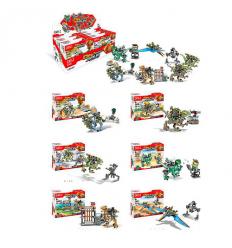 Конструктор 2102 JW, динозавр, фигурка, в коробке