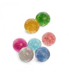 Прыгуны MS 1763-2, блестки, микс цветов, упаковка 25 шт в кульке