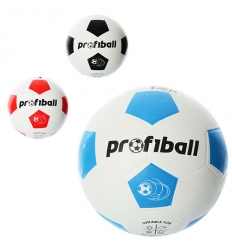 Мяч футбольный VA 0018 (30шт) размер 4, резина, гладкий, 340г, Profiball, сетка, в кульке, 3цвета