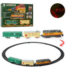 Железная дорога 19059-1 локомотив, на батарейках, в коробке