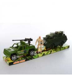 Набор машинок TY 168-3 инер-е, военные, в слюде