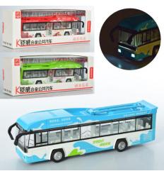 Троллейбус MS1602A (24шт) металл, инер-й