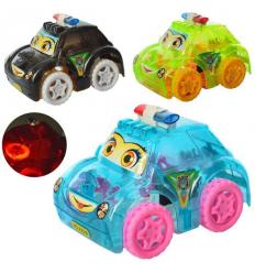 Машинка XX 398 заводная, полиция, на батарейках, в кульке