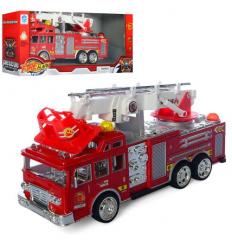 Пожарная машина 6789-4 на батарейках, в коробке