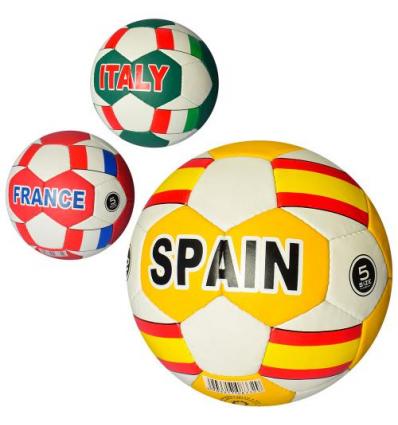 Мяч футбольный 2500-115 Страны, в кульке