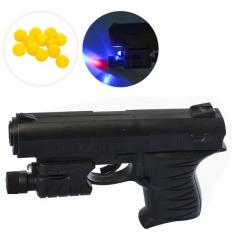 Пистолет 0621 B на пульках, лазер, на батарейках, в кульке
