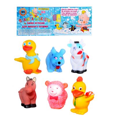 HU Пищалка 18003-6 животные, 6 шт, в кульке,