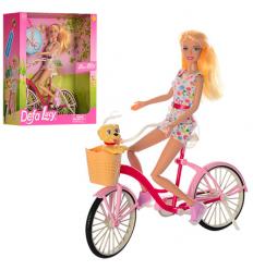 Кукла DEFA 8276 велосипед+собачка, коробке,