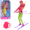 Кукла DEFA 8373 шарнирная, лыжи, рюкзак, шлем, в коробке