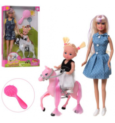 Кукла DEFA 8399-BF дочка , лошадь в коробке,