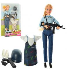 Кукла с нарядом DEFA 8388-BF шарнирная , полицейский ,в коробке,