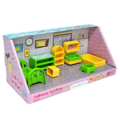 """Набор мебели для кукол 39697 """" Тигрес """" ( спалня ) 7 эл"""