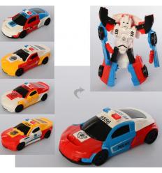Трансформер 5556 машина+робот (полиция), в кульке
