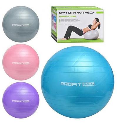 Мяч для фитнеса-75см M 0277 U/R фитбол, в кор-ке