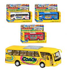 "Машинка KS 7101 W (12шт) металл, автобус, 7"", откр"