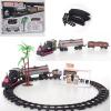 Железная дорога 2016-5 локомотив, на батарейках, в коробке