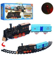 Железная дорога NB558-56-59-61 локомотив, на батарейках, в коробке