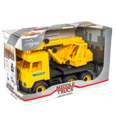"Машина 39491 ""Тигрес"" ""Middle truck"" кран, желтый"