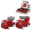 Пожарная машина 8814 (1уп/12шт) инерционная, подвижные детали, в дисплее
