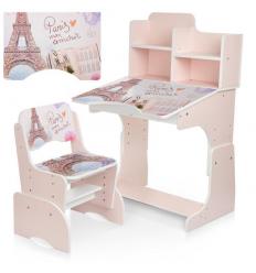 Парта B 2071-20 (1шт/ящ) BAMBI, Париж, розовый