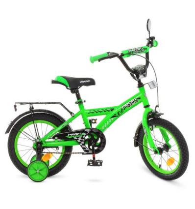 Велосипед детский PROF1 14д. T1436 (1шт/ящ) Racer, зеленый