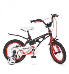 Велосипед детский PROF1 14д. LMG14201 (1шт/ящ) Infinity, черно-красный (матовый)