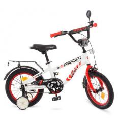 Велосипед детский PROF1 14д. T14154 (1шт/ящ) Space, бело-красный