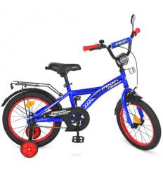 Велосипед детский PROF1 14д. T1433 (1шт/ящ) Racer, синий