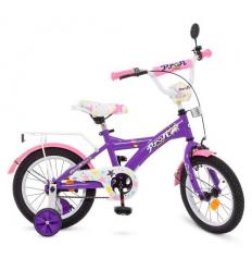 Велосипед детский PROF1 14д. T1463 (1шт/ящ) Original girl, фиолетово-розовый