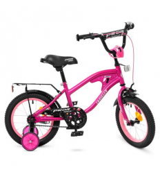 Велосипед детский PROF1 14д. Y14183 (1шт/ящ) TRAVELER, малиновый