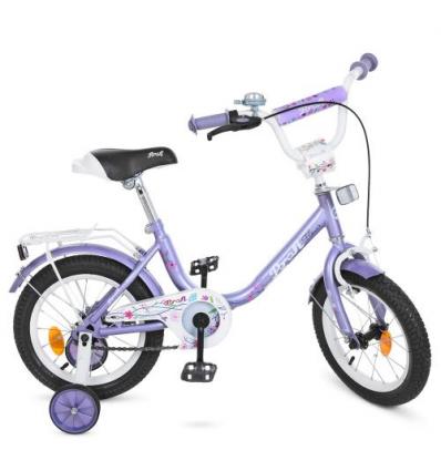 Велосипед детский PROF1 14д. Y1483 (1шт/ящ) Flower, фиолетовый