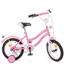 Велосипед детский PROF1 14д. Y1491 (1шт/ящ) Star, розовый