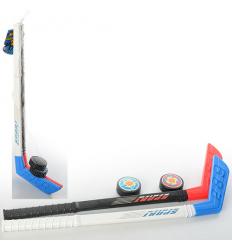 Хоккей M 2910 клюшка, шайба, в сетке