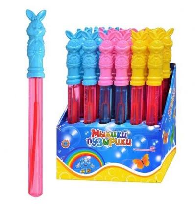 Мыльные пузыри M 1010 (96шт) меч, 3 цвета, 24 шт в дисплее, 25-25-17см