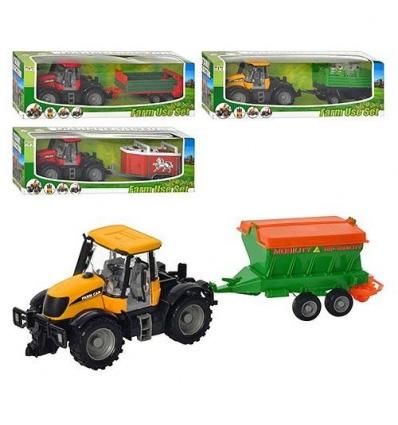 Комбайн 1155 A-31-41-5155-916 (30шт) трактор с прицепом инер-й, 4 вида в кор-ке, 37-12-10,5см