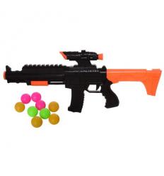 Автомат 555-10 пули-шарики, в кульке