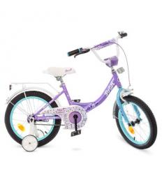 Велосипед детский PROF1 16д. Y1615 (1шт/ящ) Princess, сиренево-мятный