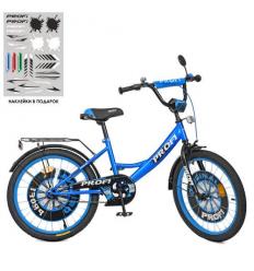 Велосипед детский PROF1 20д. XD2044 (1шт/ящ) Original boy, сине-черный